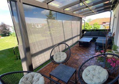 Balkonska vertikalna tenda, screen platno